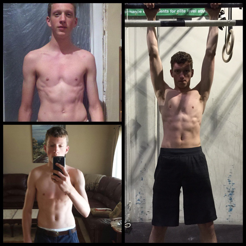 Before and After 57 lbs Muscle Gain 6 foot Male 115 lbs to 172 lbs