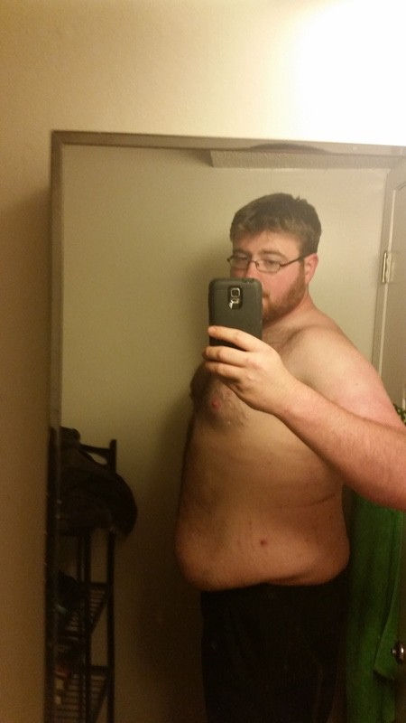 21 lbs Fat Loss Before and After 6 feet 6 Male 362 lbs to 341 lbs