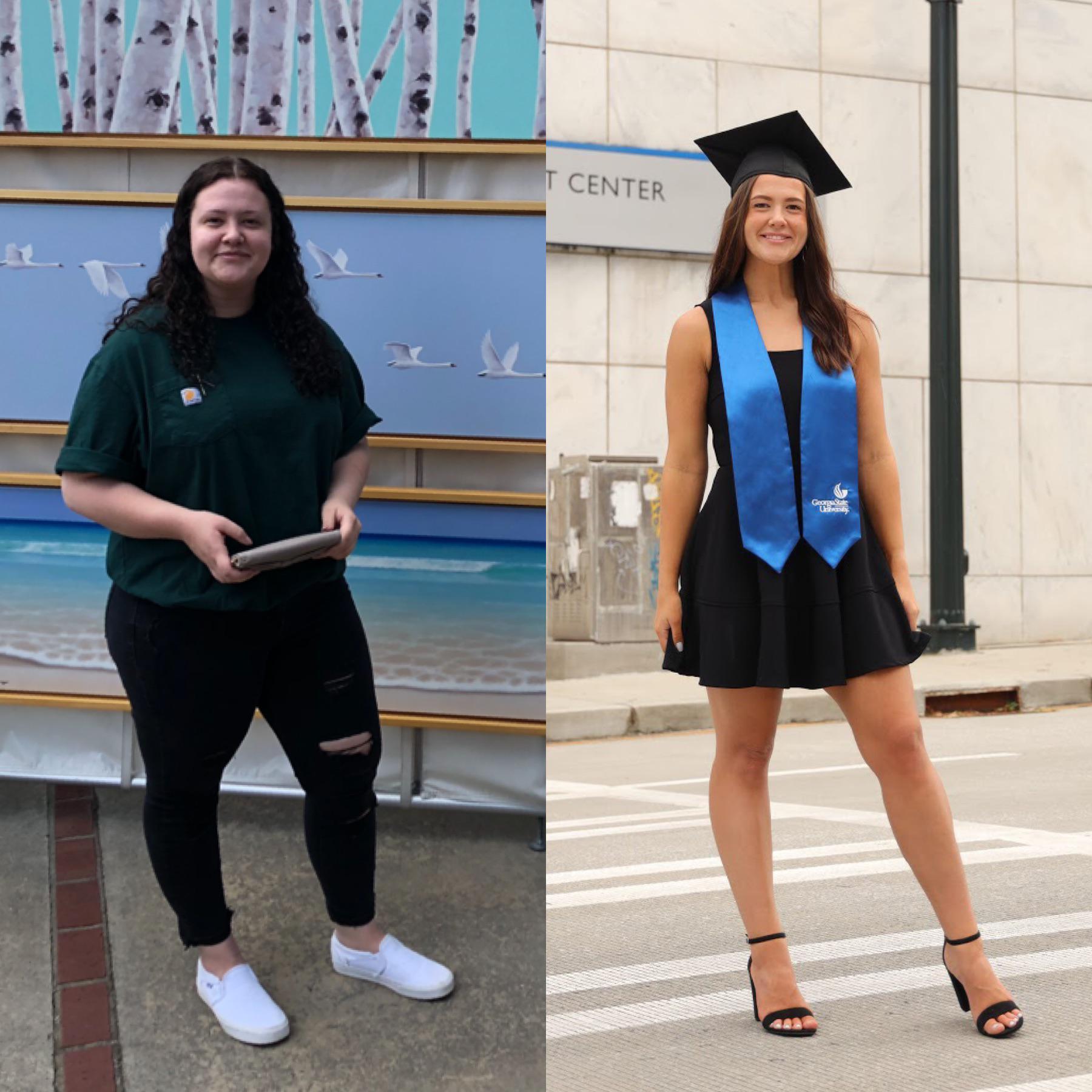 Progress Pics of 65 lbs Fat Loss 5'6 Female 220 lbs to 155 lbs