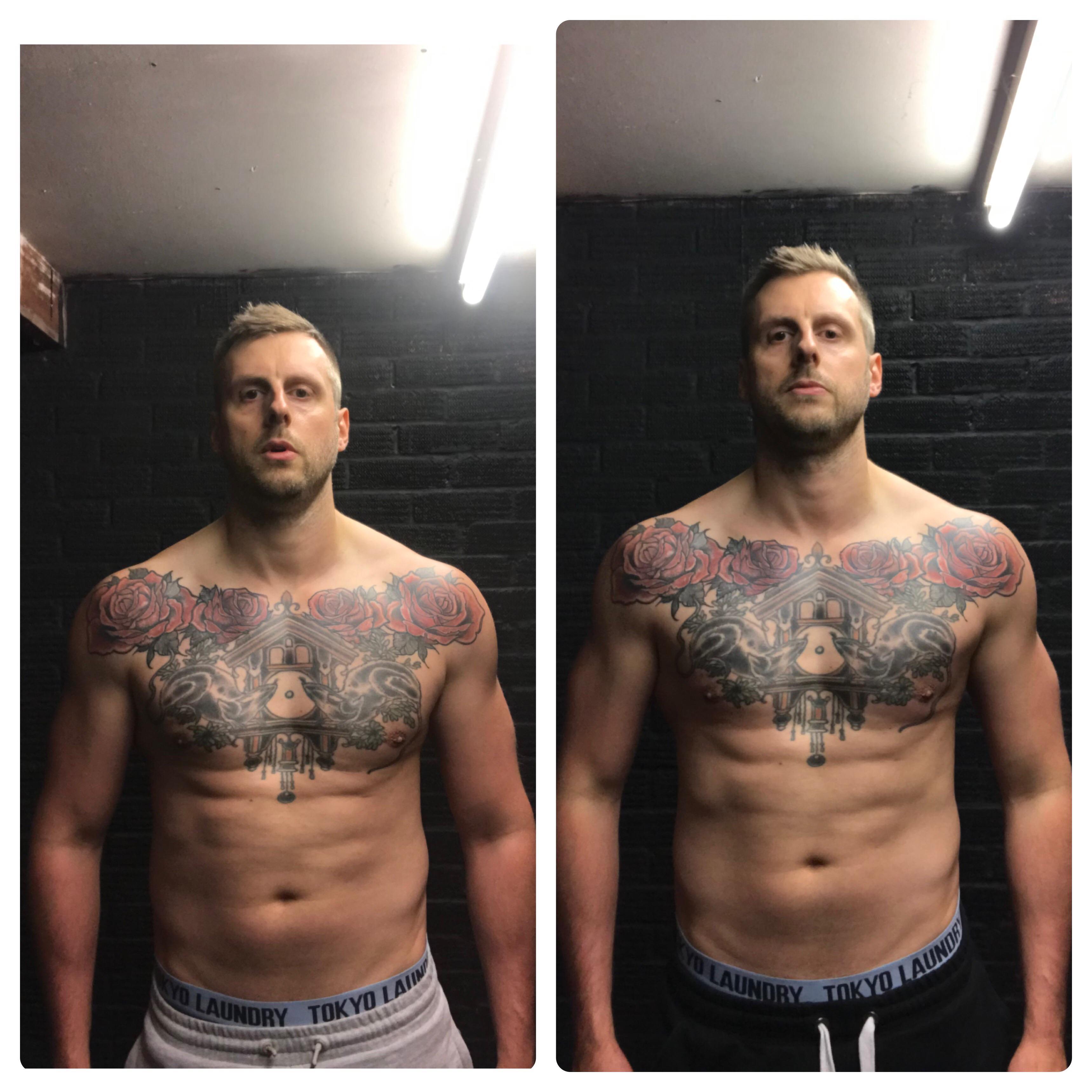 10 lbs Weight Loss 6 feet 1 Male 198 lbs to 188 lbs