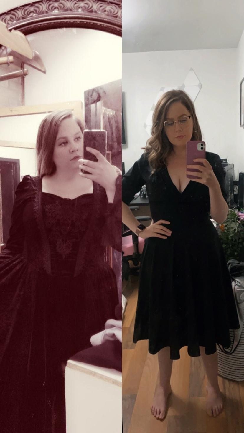 35 lbs Weight Loss Before and After 5 foot 4 Female 170 lbs to 135 lbs