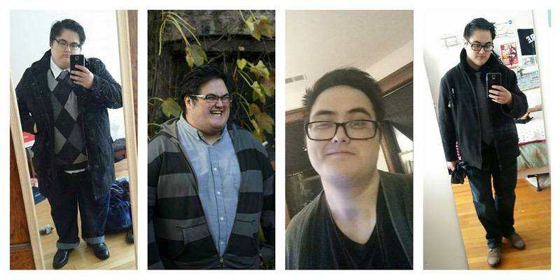 Before and After 136 lbs Weight Loss 5'10 Male 356 lbs to 220 lbs