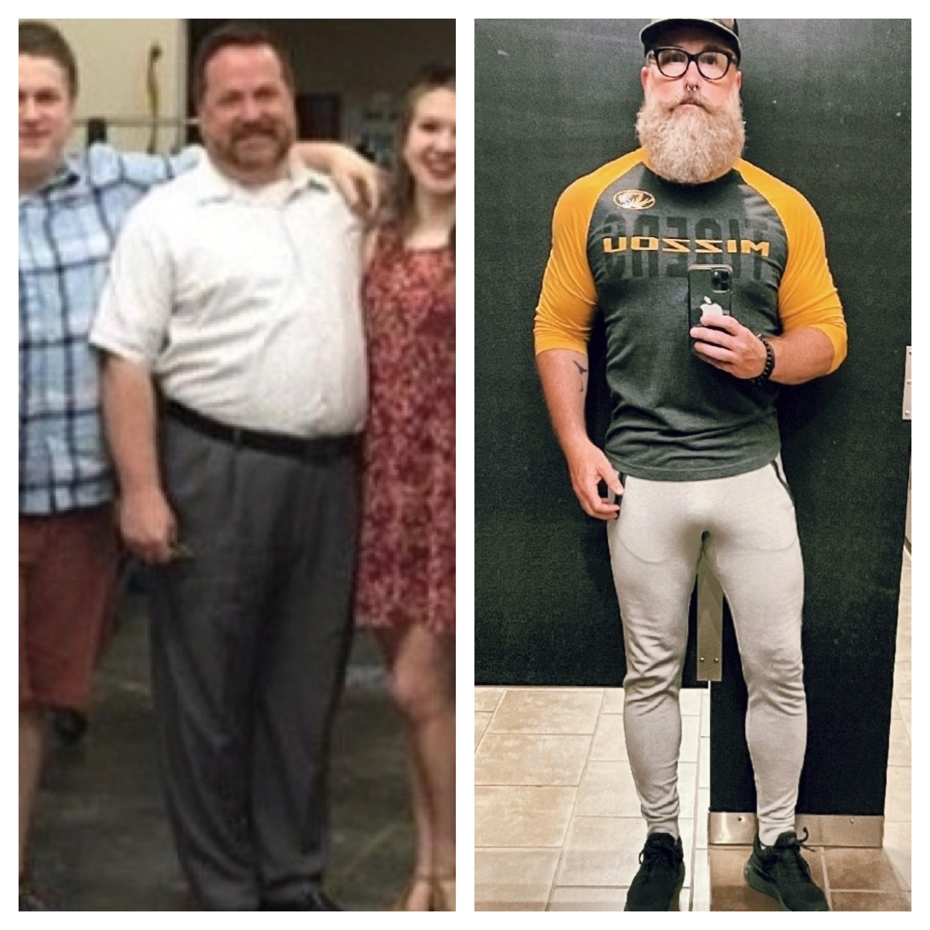 5'8 Male Before and After 75 lbs Fat Loss 270 lbs to 195 lbs