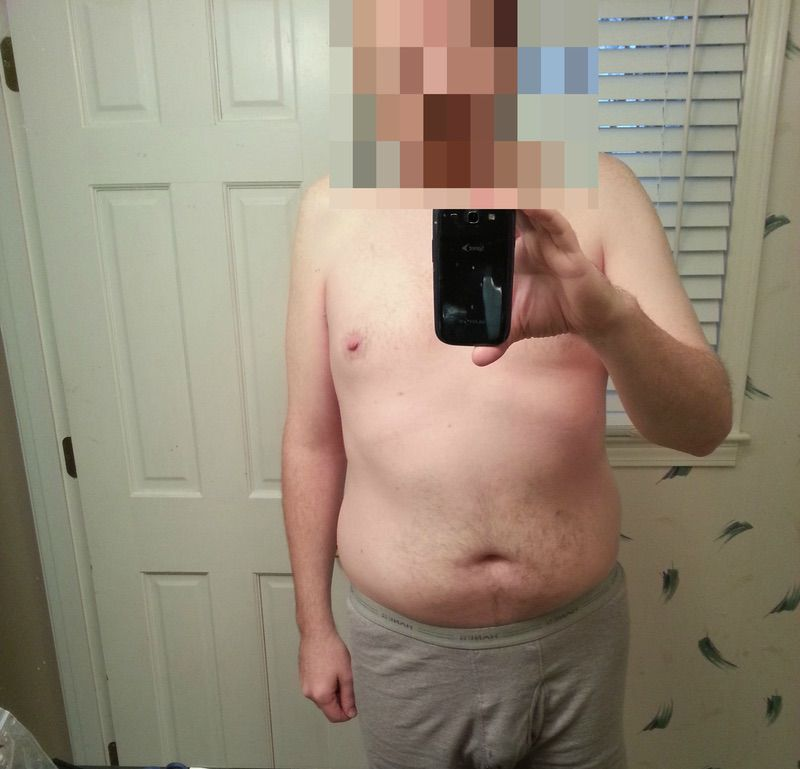 6'2 Male Before and After 33 lbs Weight Loss 210 lbs to 177 lbs