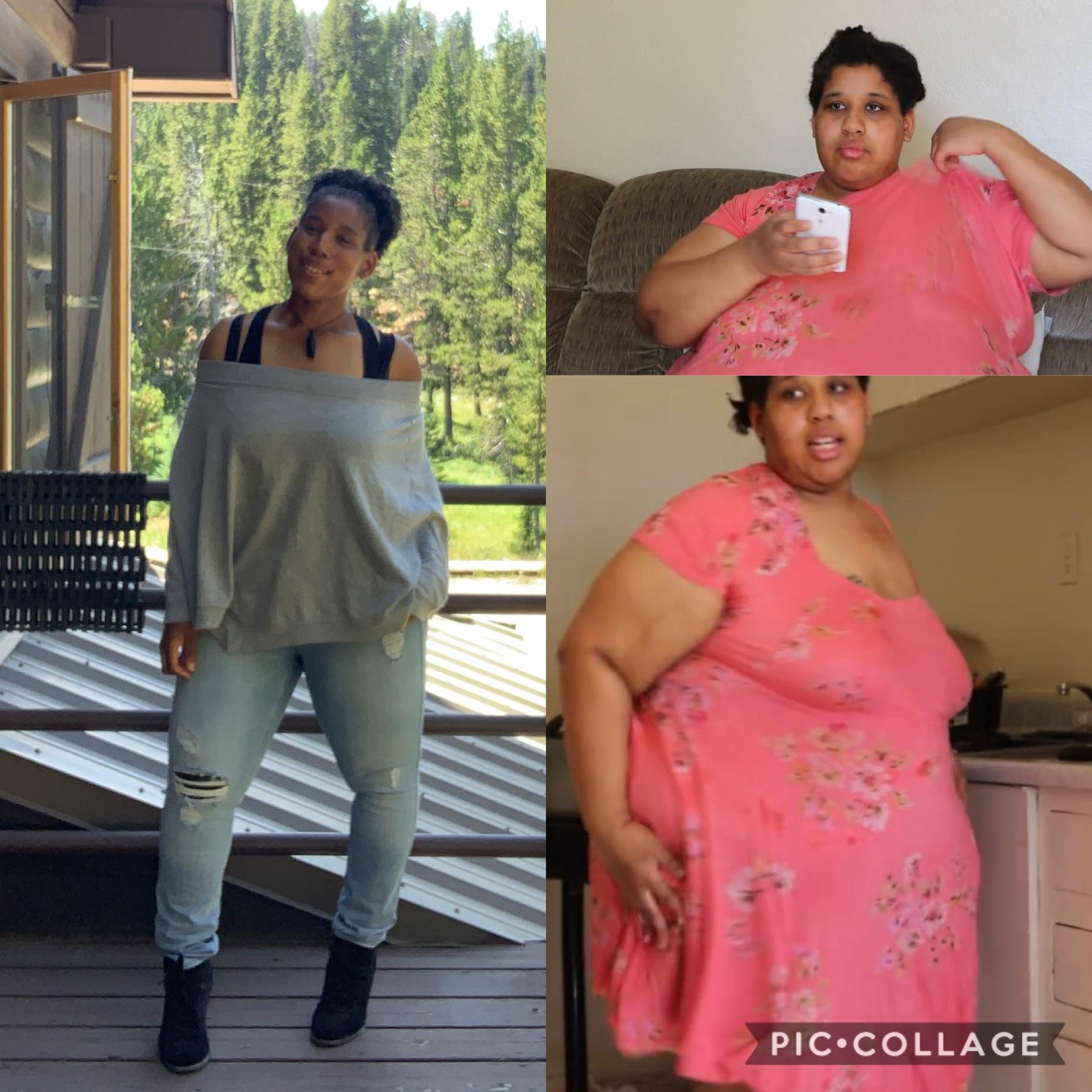 285 lbs Weight Loss Before and After 5'5 Female 480 lbs to 195 lbs