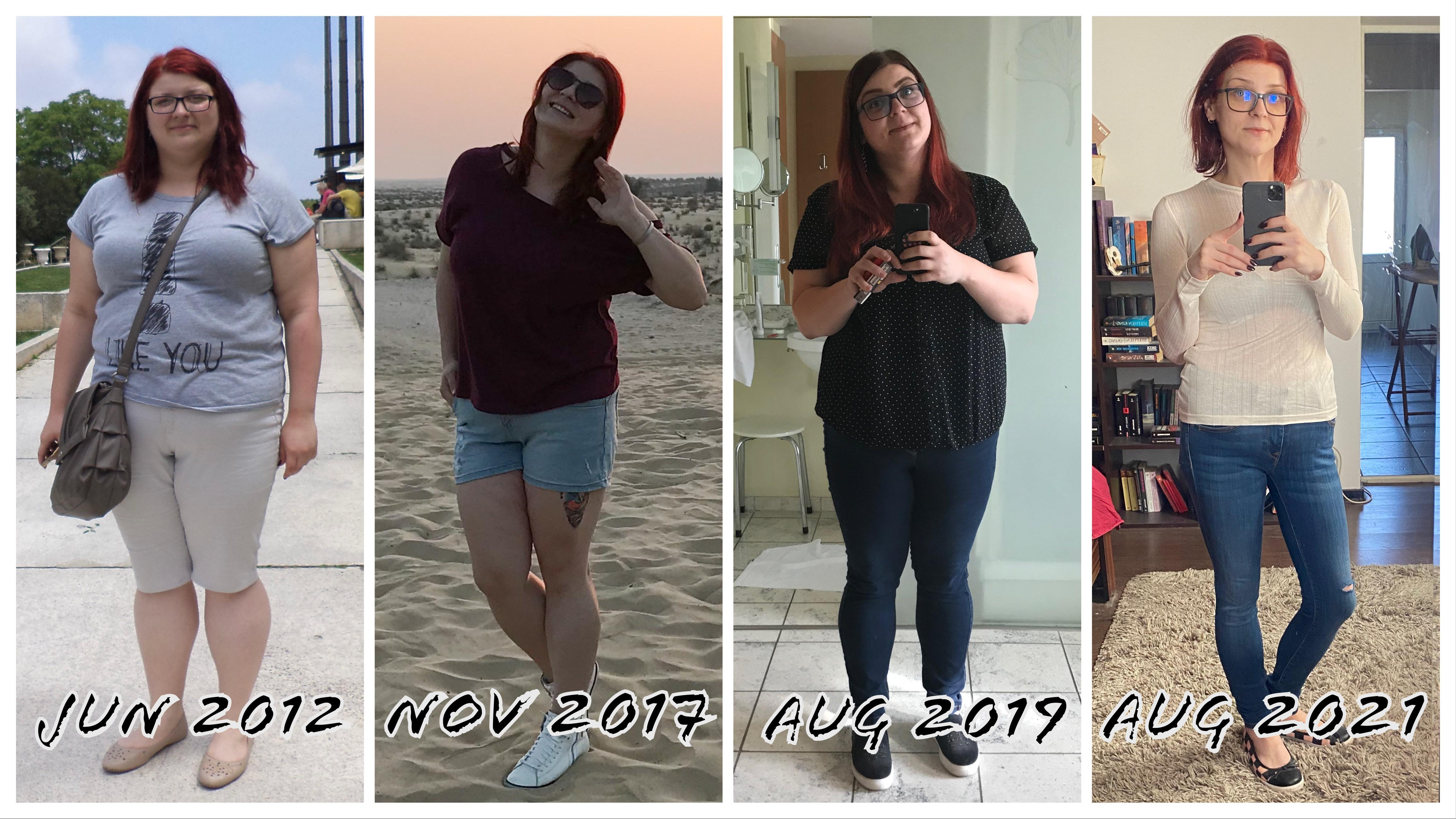 5'6 Female Before and After 88 lbs Weight Loss 253 lbs to 165 lbs