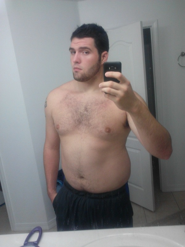 6 feet 3 Male 47 lbs Fat Loss Before and After 250 lbs to 203 lbs