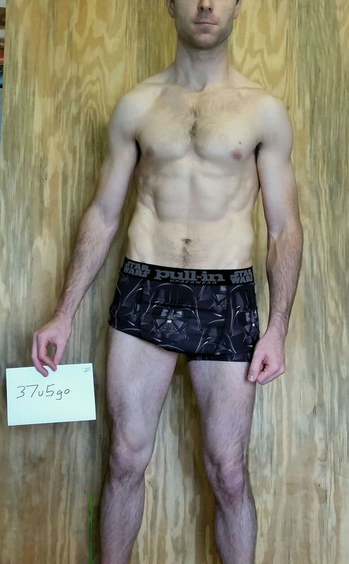 3 Pictures of a 167 lbs 6'1 Male Weight Snapshot