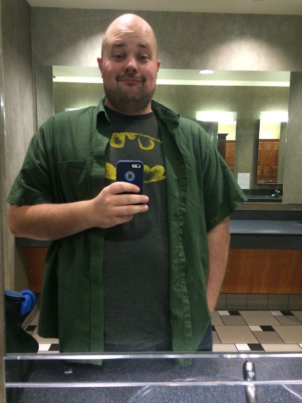 6 foot 1 Male 1 lbs Weight Loss Before and After 300 lbs to 299 lbs