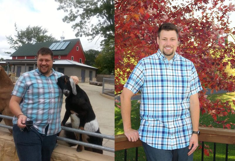 6'5 Male 92 lbs Fat Loss Before and After 387 lbs to 295 lbs