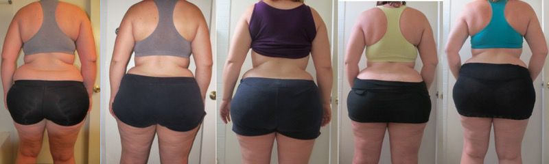 5 feet 11 Female Progress Pics of 19 lbs Fat Loss 282 lbs to 263 lbs