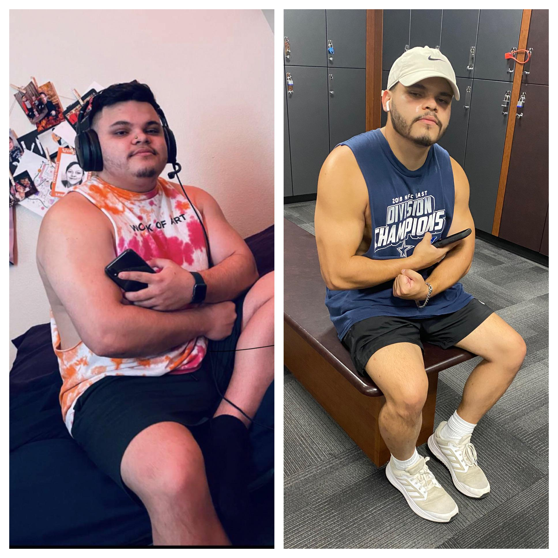5 foot 7 Male 45 lbs Weight Loss Before and After 230 lbs to 185 lbs