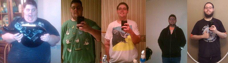 266 lbs Weight Loss 5 foot 10 Male 476 lbs to 210 lbs