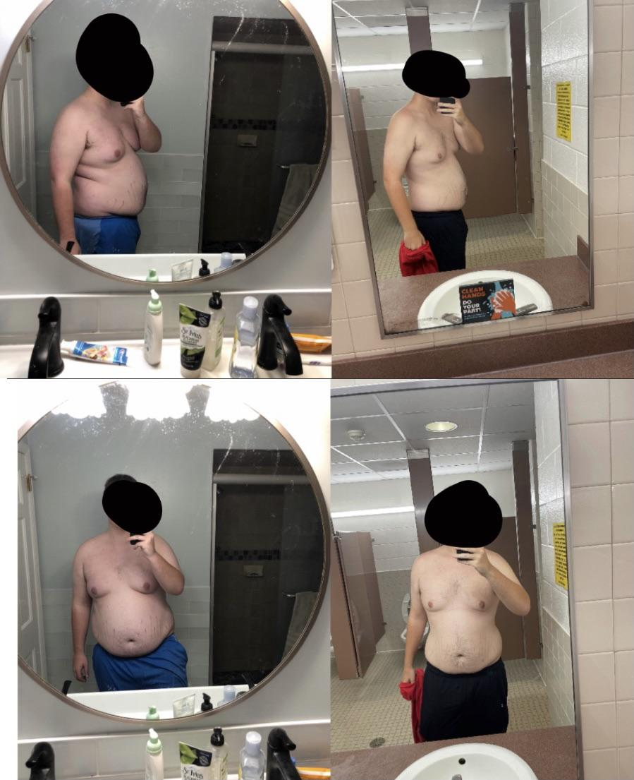 6 foot 1 Male 55 lbs Weight Loss Before and After 310 lbs to 255 lbs