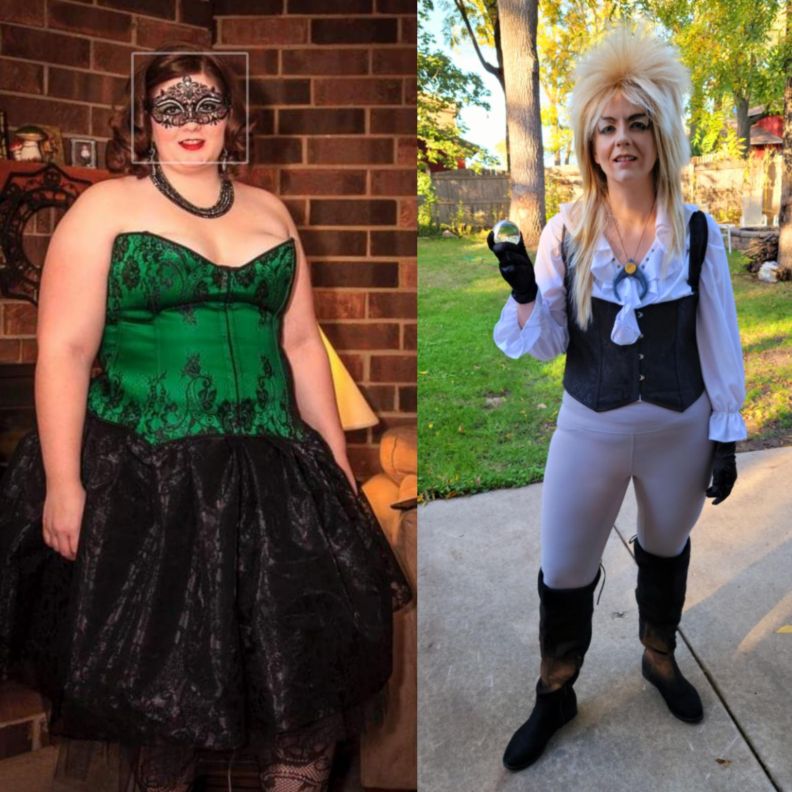 Before and After 140 lbs Fat Loss 5'9 Female 315 lbs to 175 lbs
