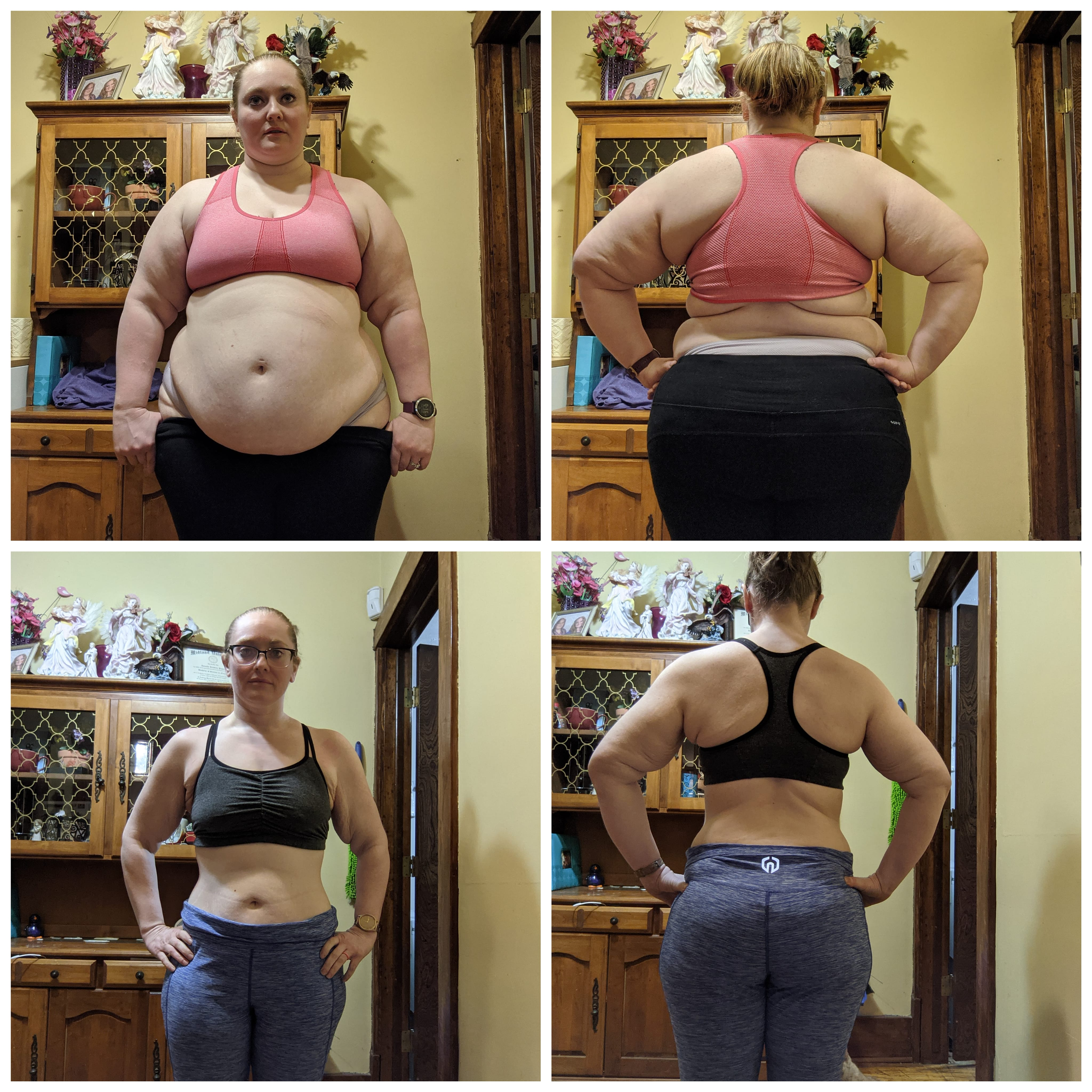5 feet 4 Female 113 lbs Fat Loss Before and After 284 lbs to 171 lbs
