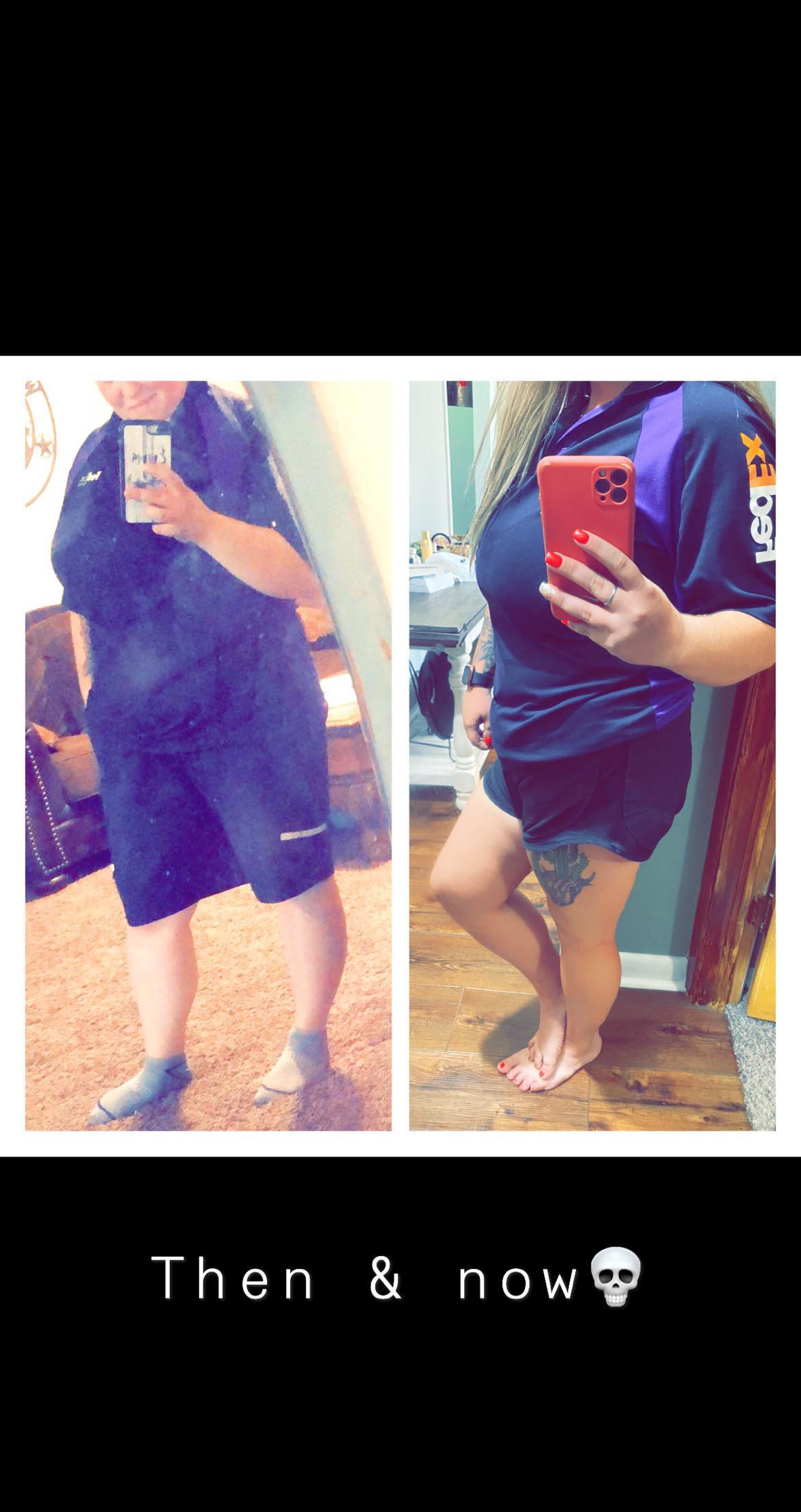 Progress Pics of 45 lbs Weight Loss 5 feet 2 Female 230 lbs to 185 lbs