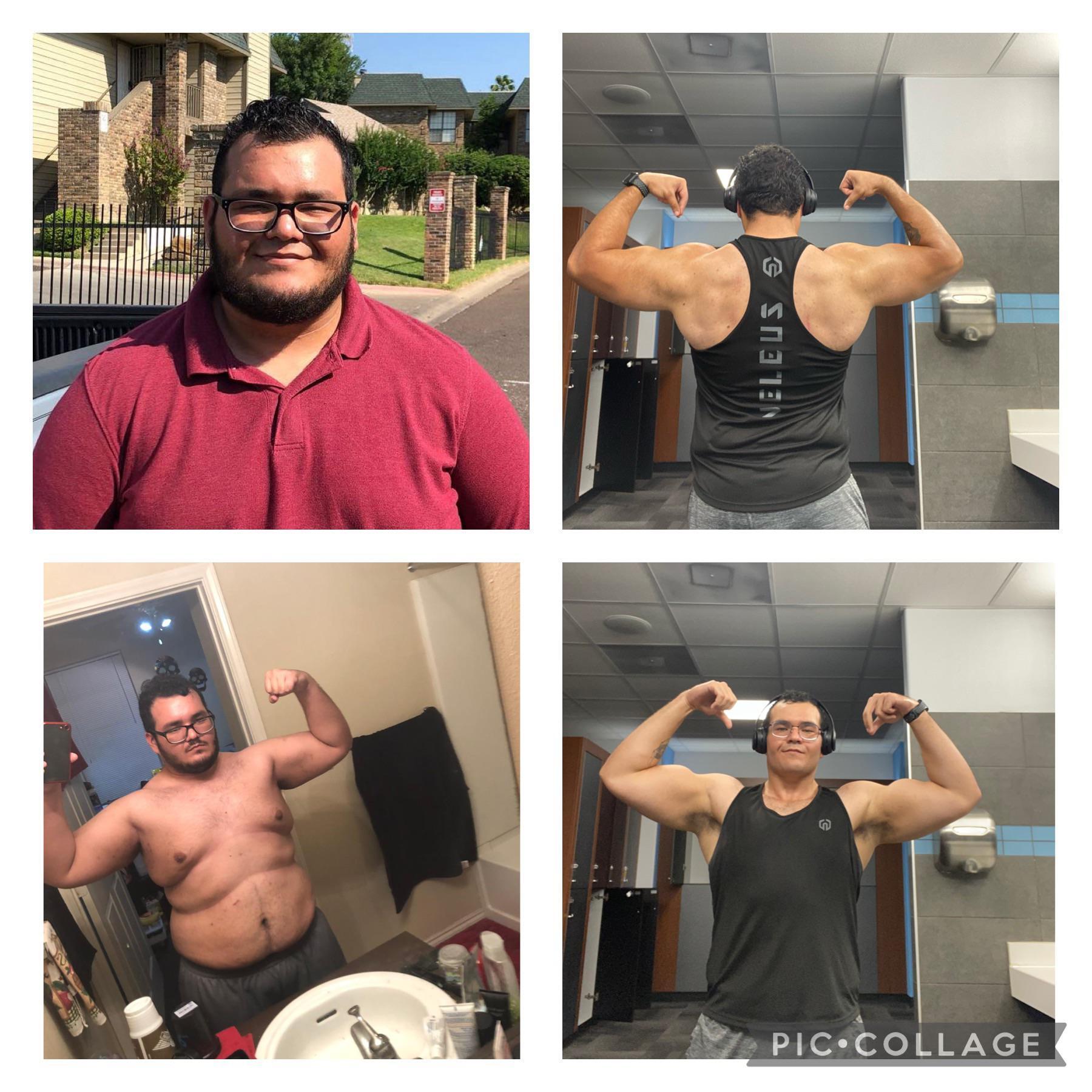 Progress Pics of 142 lbs Fat Loss 5 feet 7 Male 340 lbs to 198 lbs