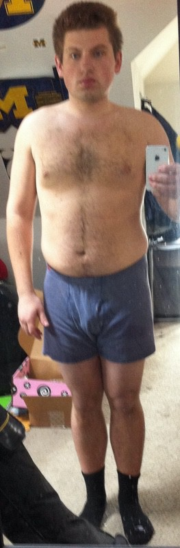 6 lbs Fat Loss Before and After 5 feet 9 Male 200 lbs to 194 lbs