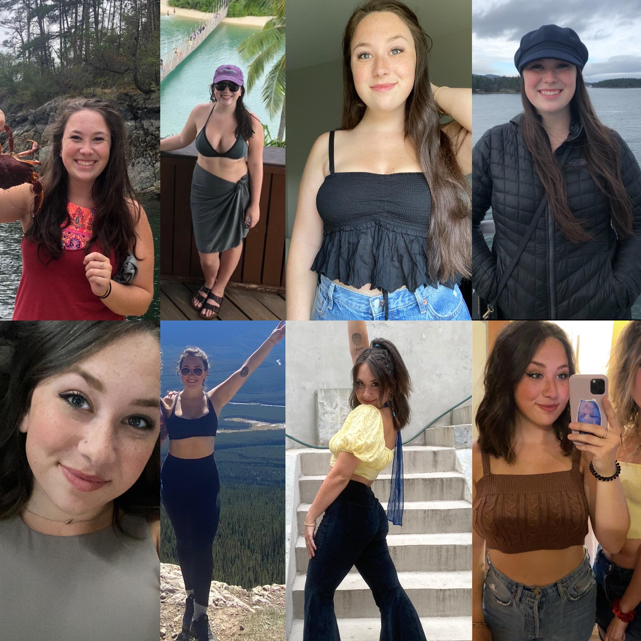 Before and After 35 lbs Fat Loss 5 foot 5 Female 185 lbs to 150 lbs
