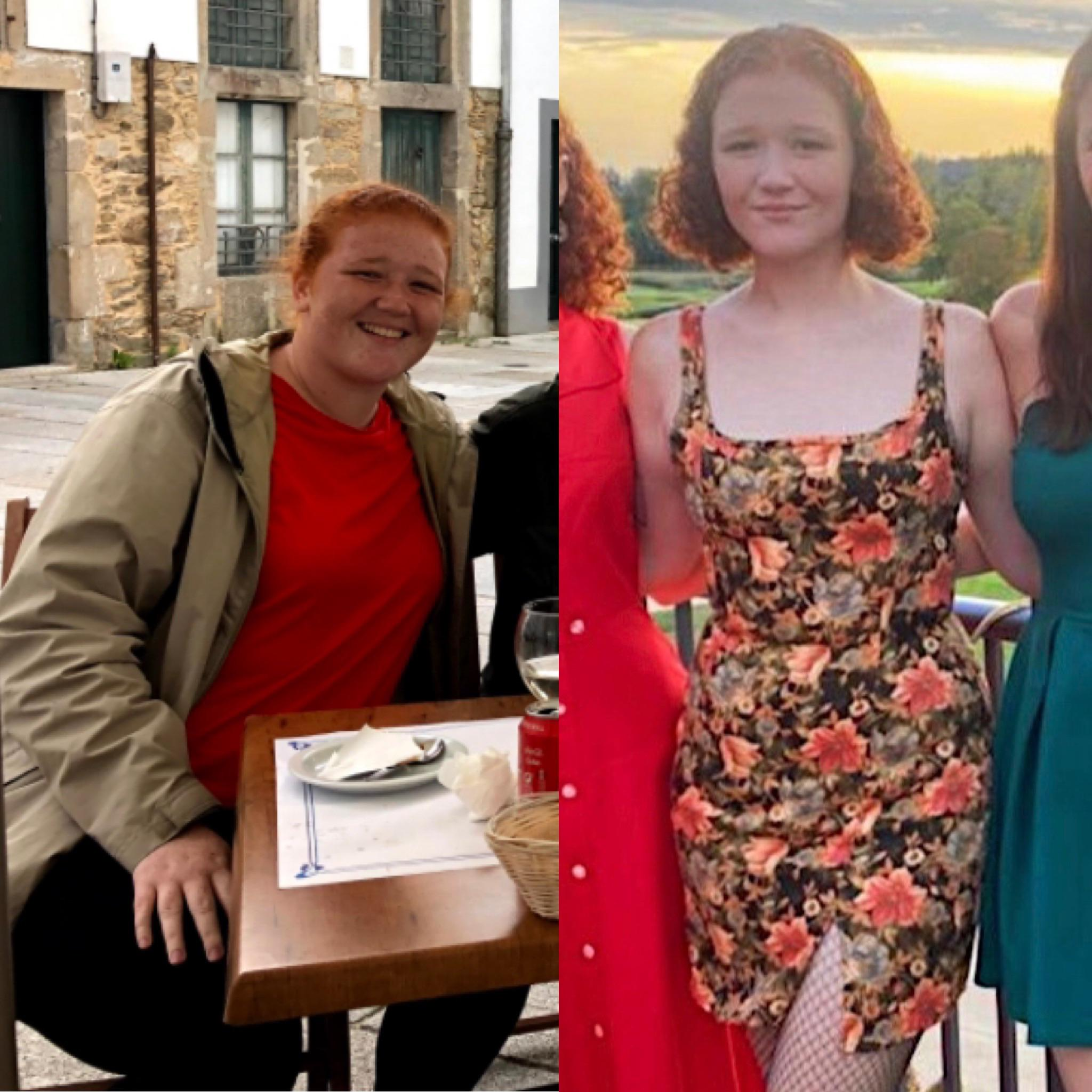5 feet 9 Female Before and After 80 lbs Weight Loss 245 lbs to 165 lbs
