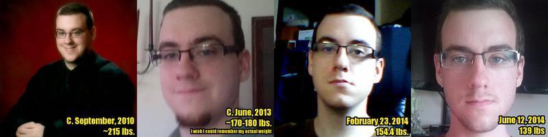 5 feet 7 Male 76 lbs Fat Loss 215 lbs to 139 lbs