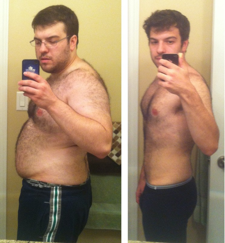 5 feet 7 Male Before and After 80 lbs Weight Loss 240 lbs to 160 lbs