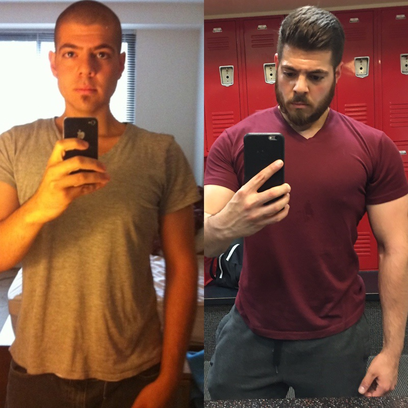 5 foot 8 Male Progress Pics of 2 lbs Muscle Gain 180 lbs to 182 lbs