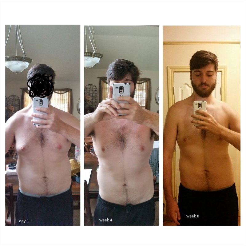 38 lbs Weight Loss Before and After 6 foot 8 Male 273 lbs to 235 lbs