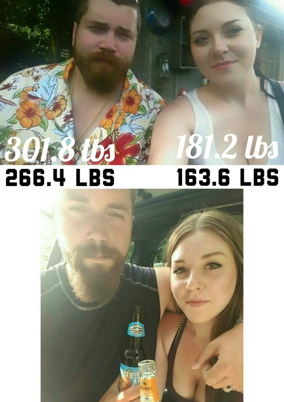 35 lbs Fat Loss Before and After 6 foot 3 Male 301 lbs to 266 lbs