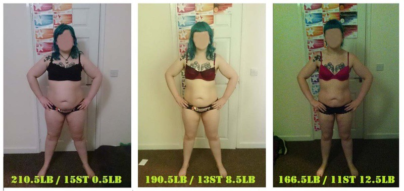 5 feet 7 Female 44 lbs Fat Loss Before and After 210 lbs to 166 lbs