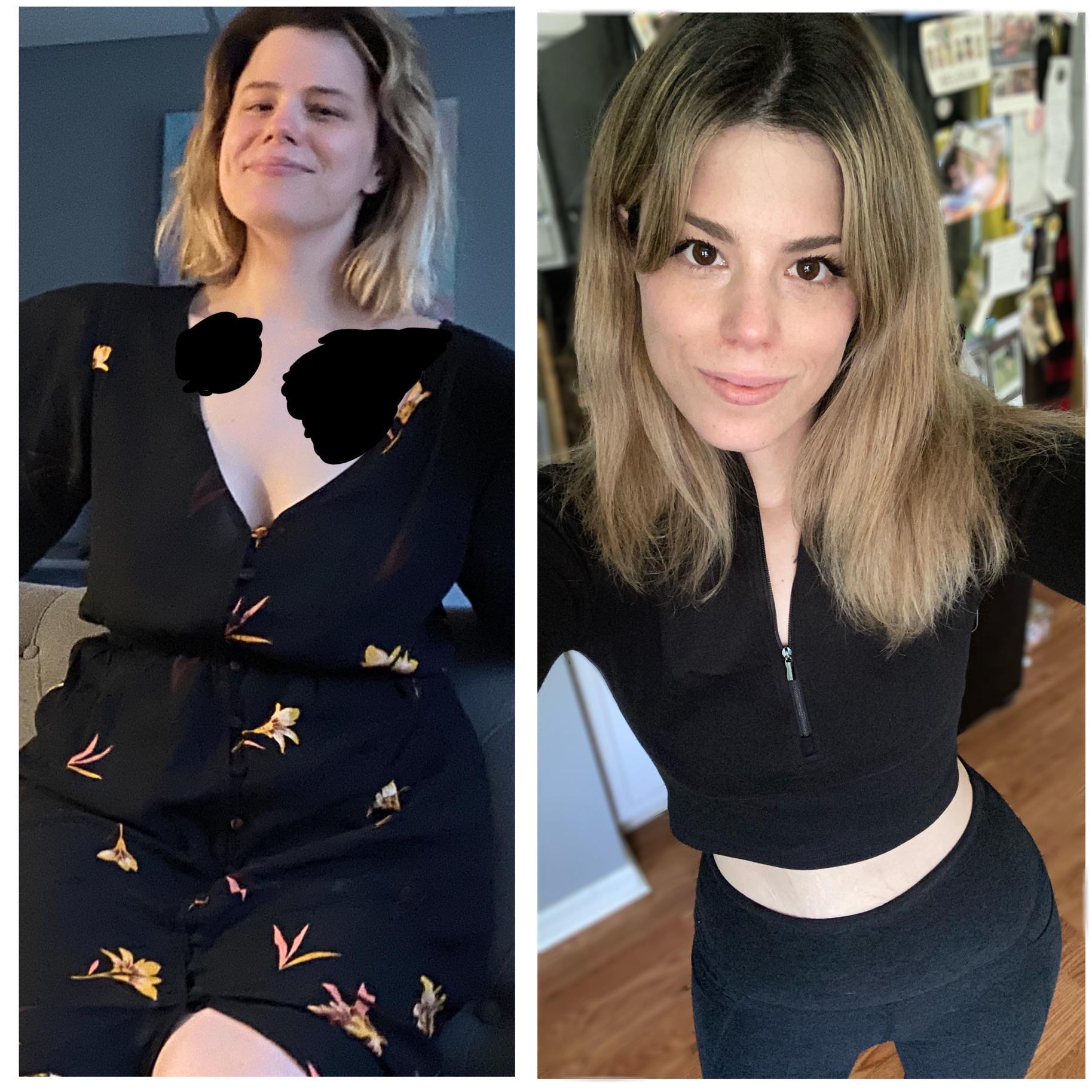 5 foot 5 Female Progress Pics of 50 lbs Weight Loss 170 lbs to 120 lbs