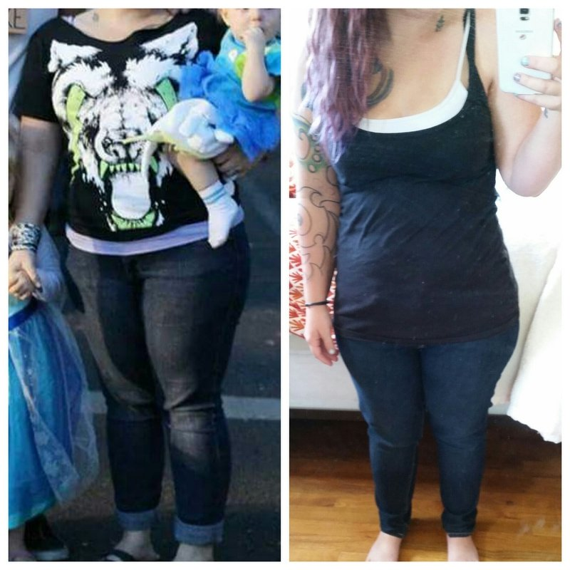 4 feet 11 Female 14 lbs Fat Loss Before and After 159 lbs to 145 lbs