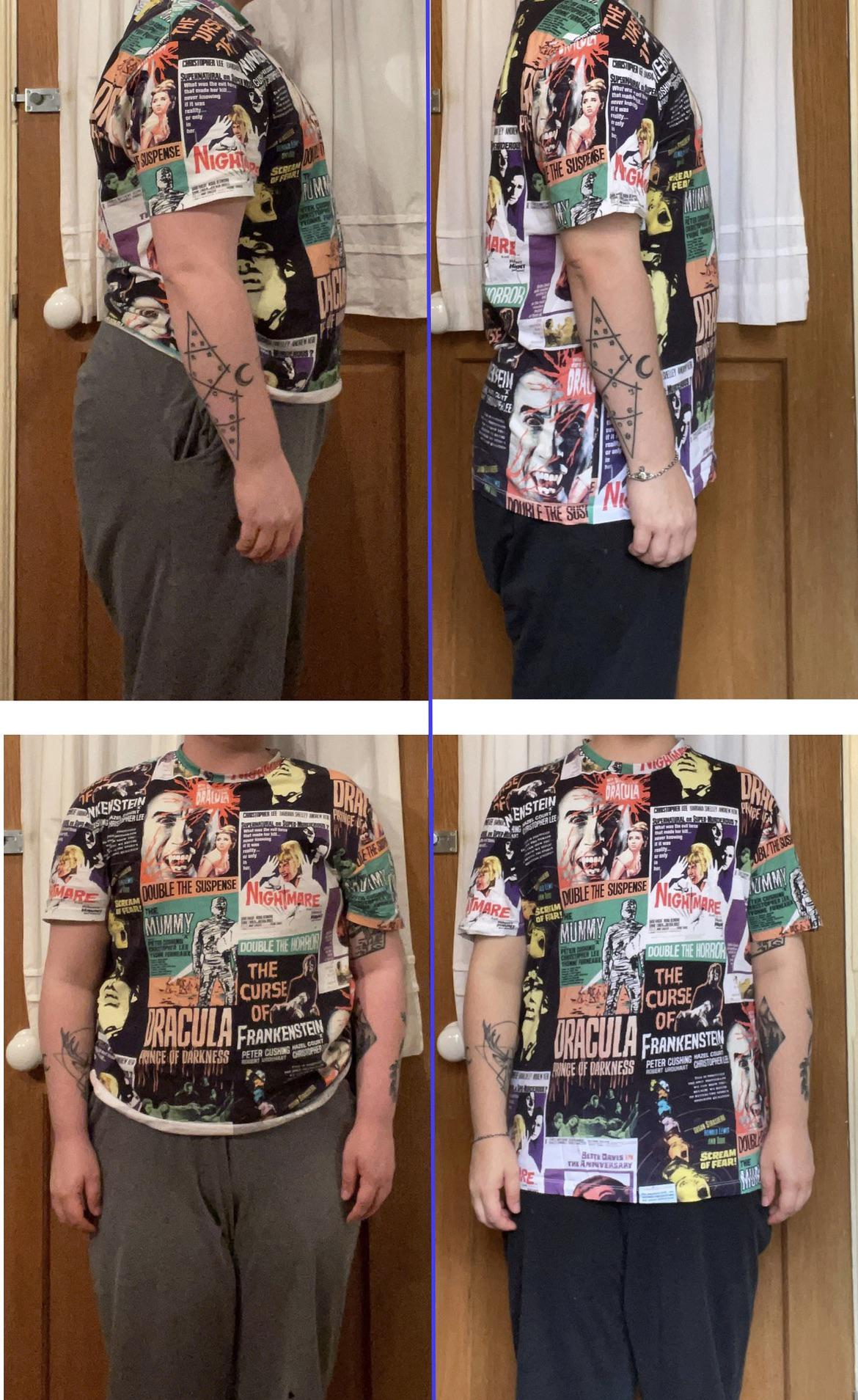 5 foot 5 Male 34 lbs Fat Loss Before and After 209 lbs to 175 lbs