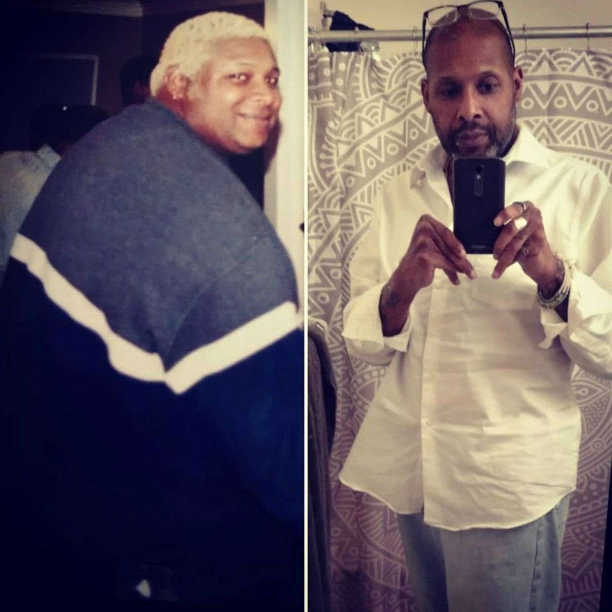 Before and After 200 lbs Fat Loss 6 foot Male 400 lbs to 200 lbs