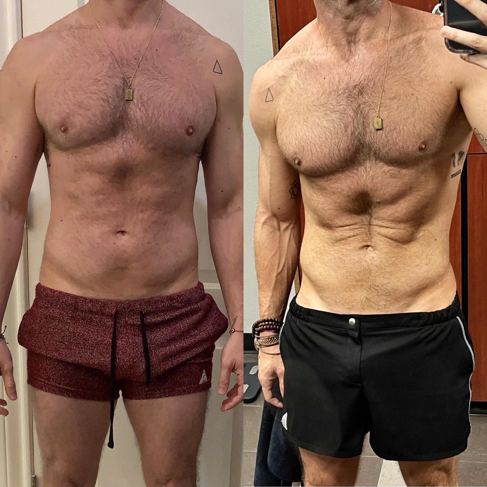 5 foot 10 Male 16 lbs Weight Loss 186 lbs to 170 lbs