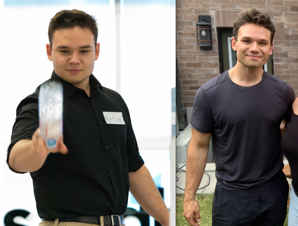 95 lbs Weight Loss Before and After 6 foot Male 285 lbs to 190 lbs