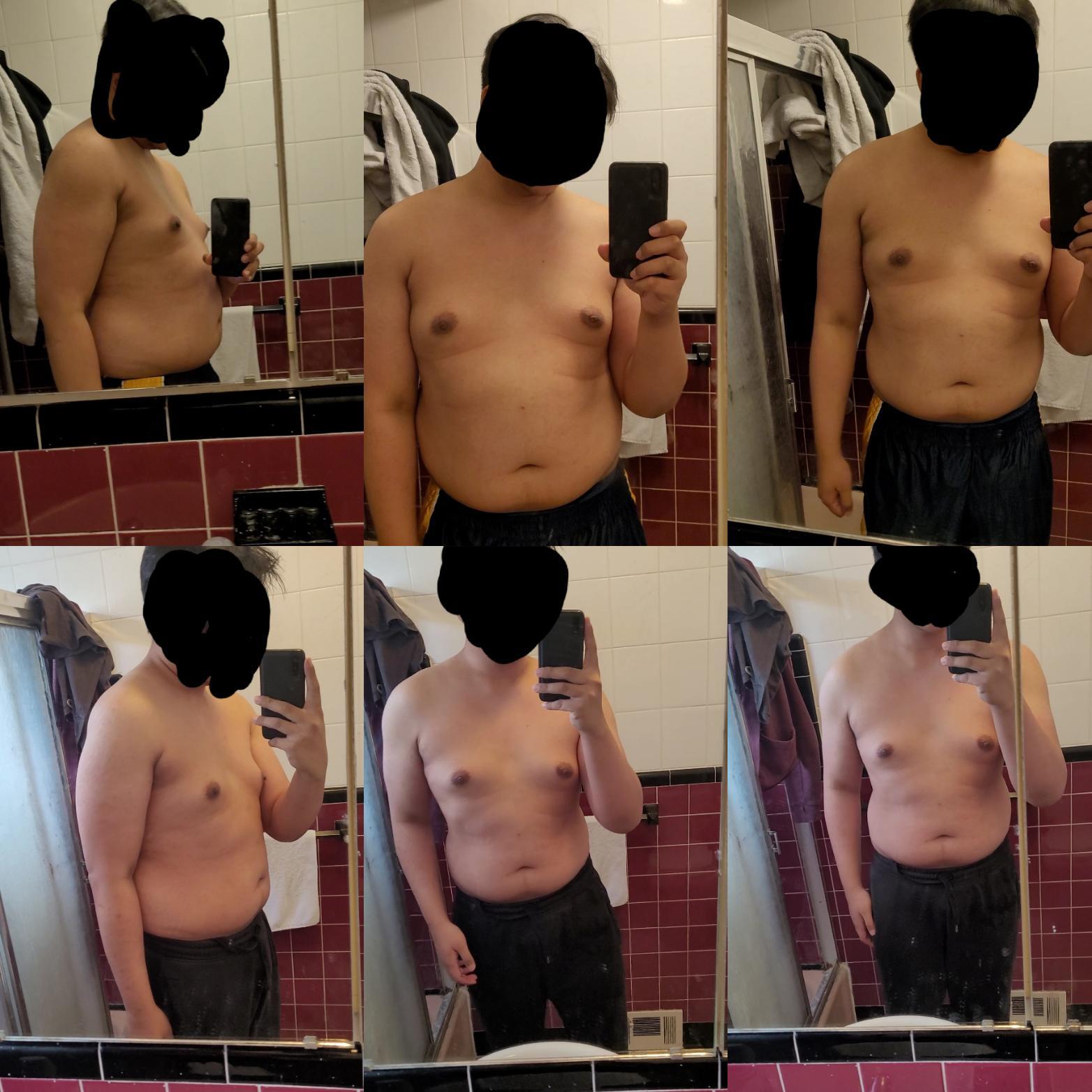 6 foot 2 Male Progress Pics of 25 lbs Weight Loss 260 lbs to 235 lbs