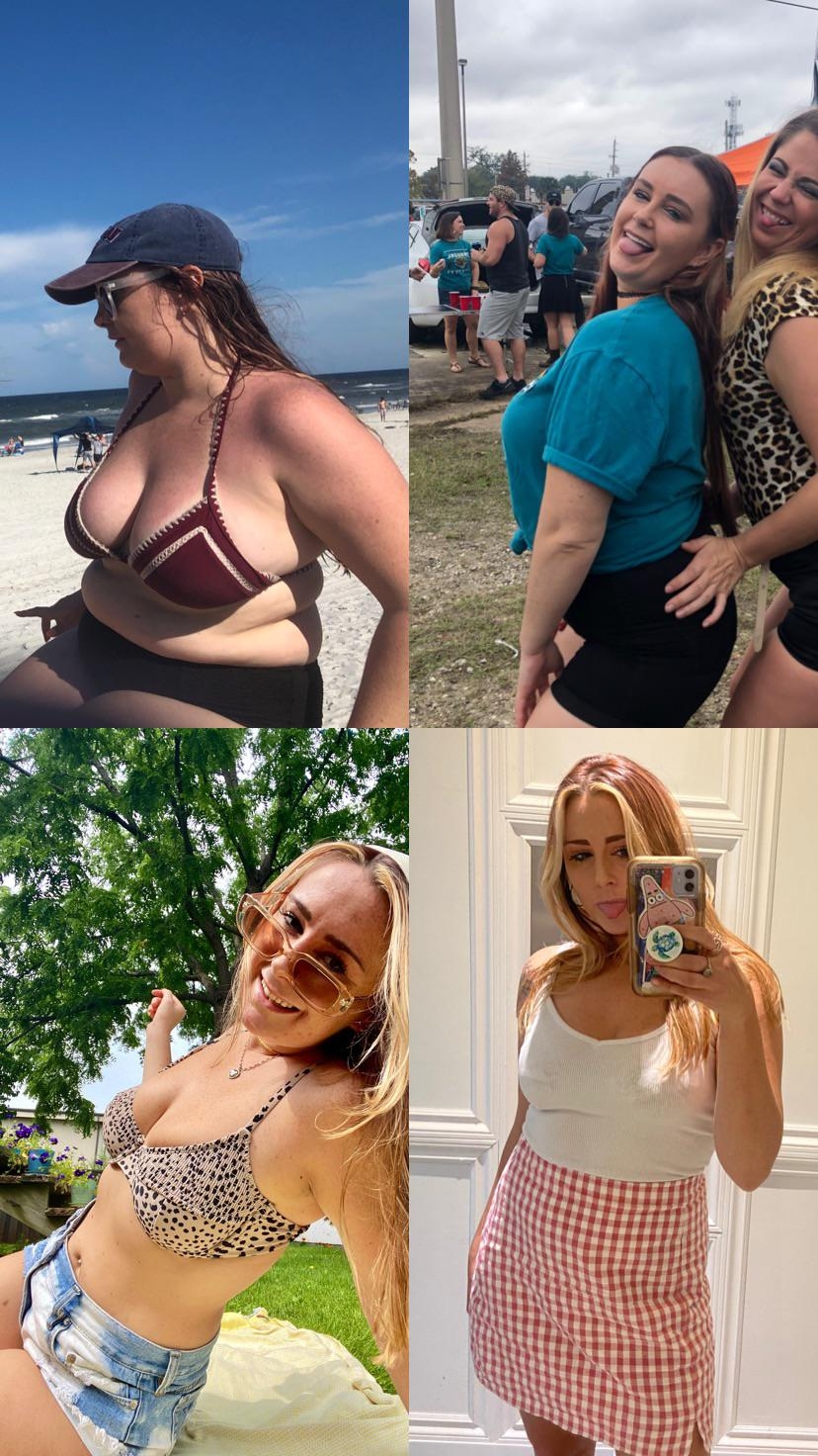 5'6 Female Before and After 49 lbs Weight Loss 187 lbs to 138 lbs
