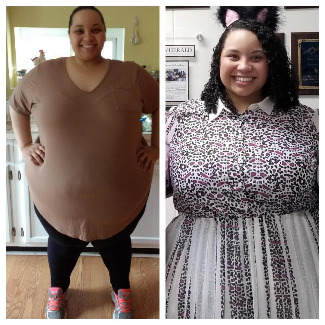 94 lbs Weight Loss 5'3 Female 443 lbs to 349 lbs
