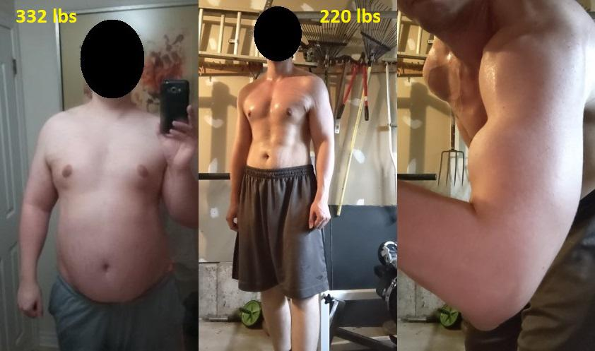 6 feet 4 Male Progress Pics of 112 lbs Fat Loss 332 lbs to 220 lbs
