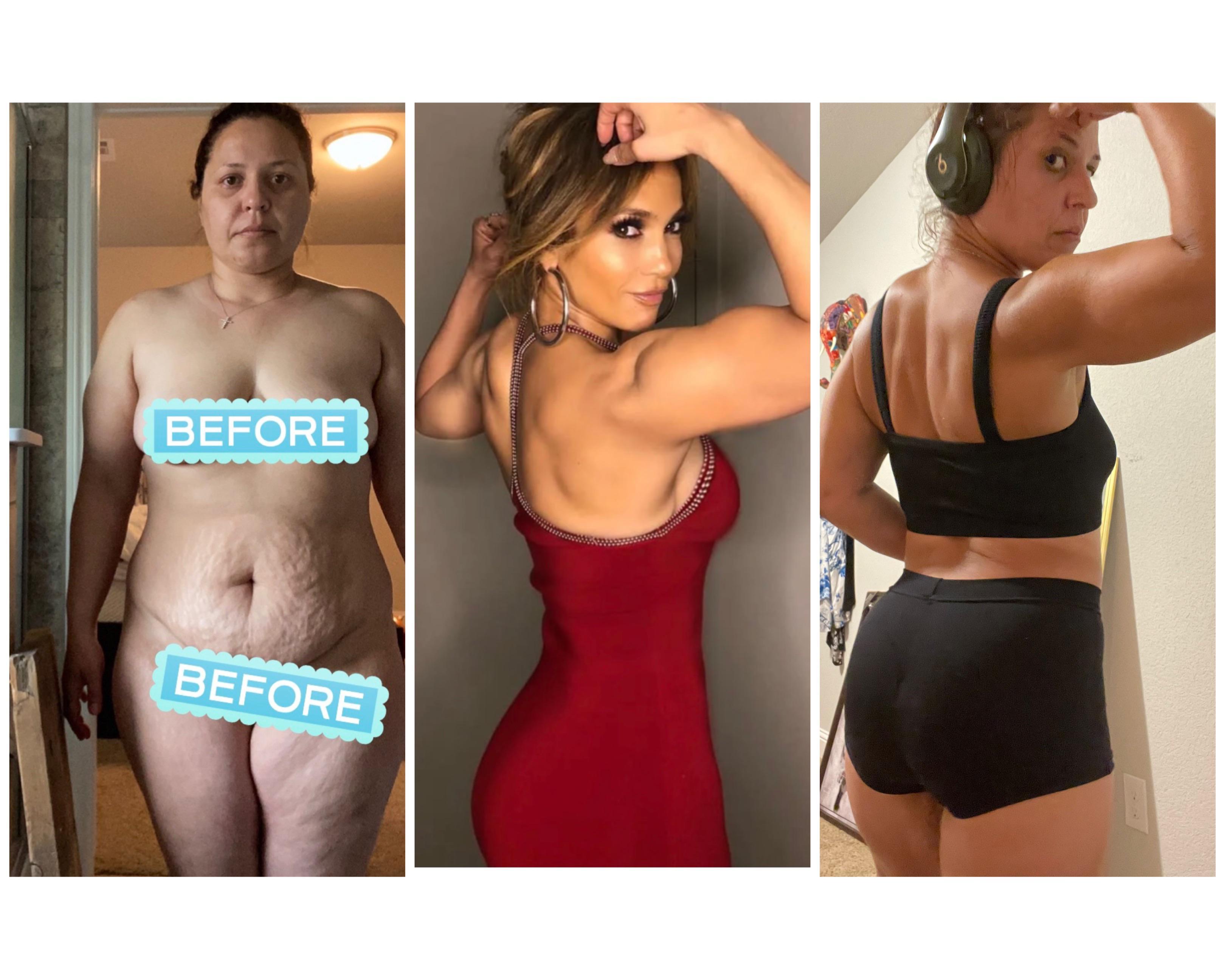 5 feet 2 Female Progress Pics of 87 lbs Weight Loss 192 lbs to 105 lbs