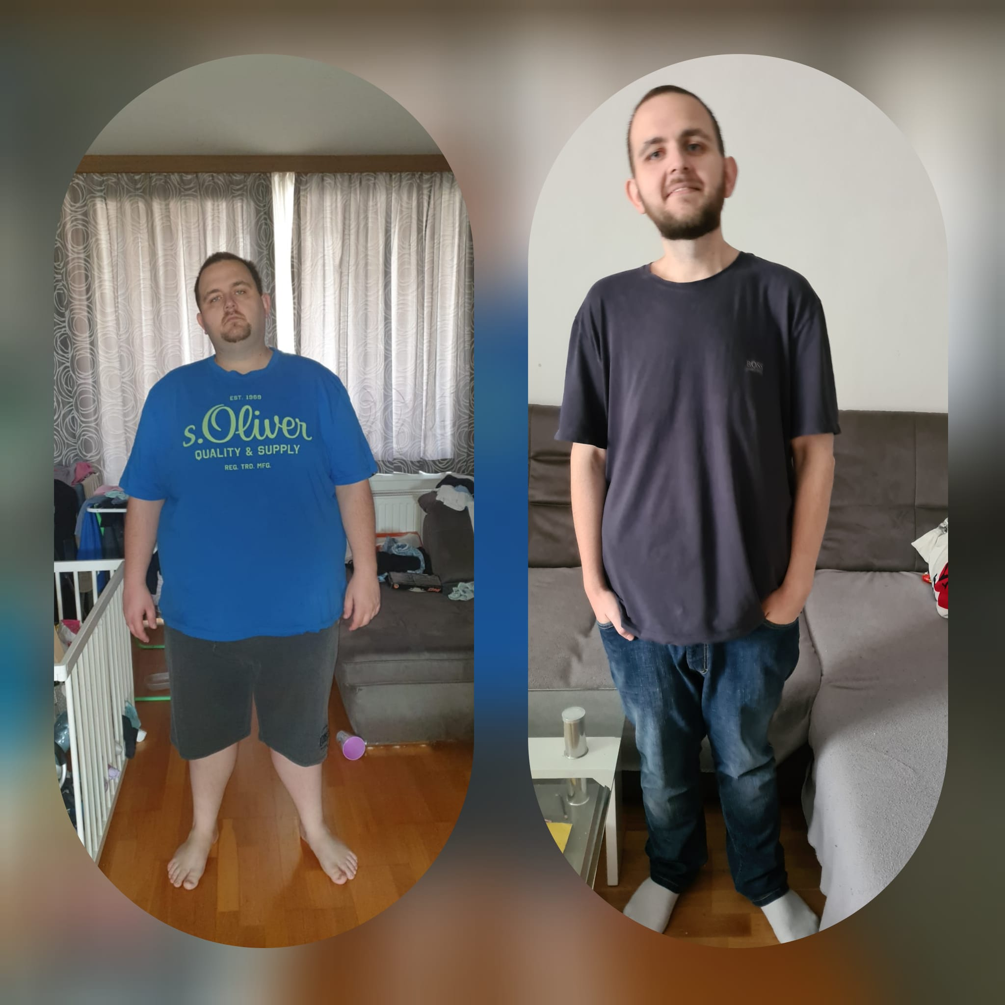 5 feet 8 Male 96 lbs Weight Loss Before and After 460 lbs to 364 lbs