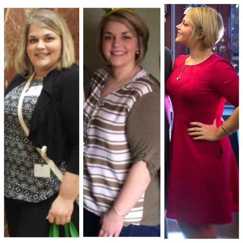 Before and After 94 lbs Fat Loss 5'2 Female 293 lbs to 199 lbs