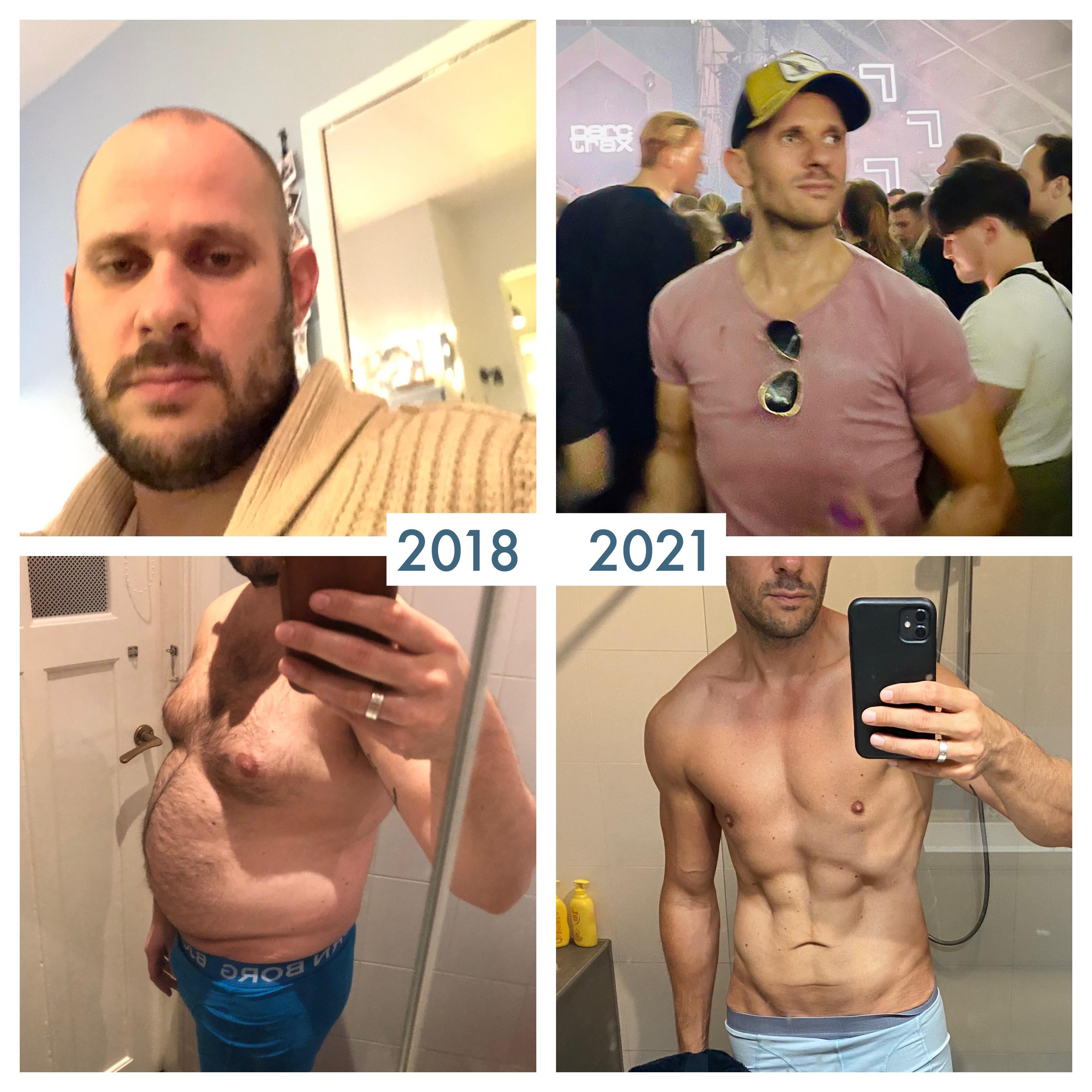 5 foot 10 Male 99 lbs Fat Loss Before and After 240 lbs to 141 lbs
