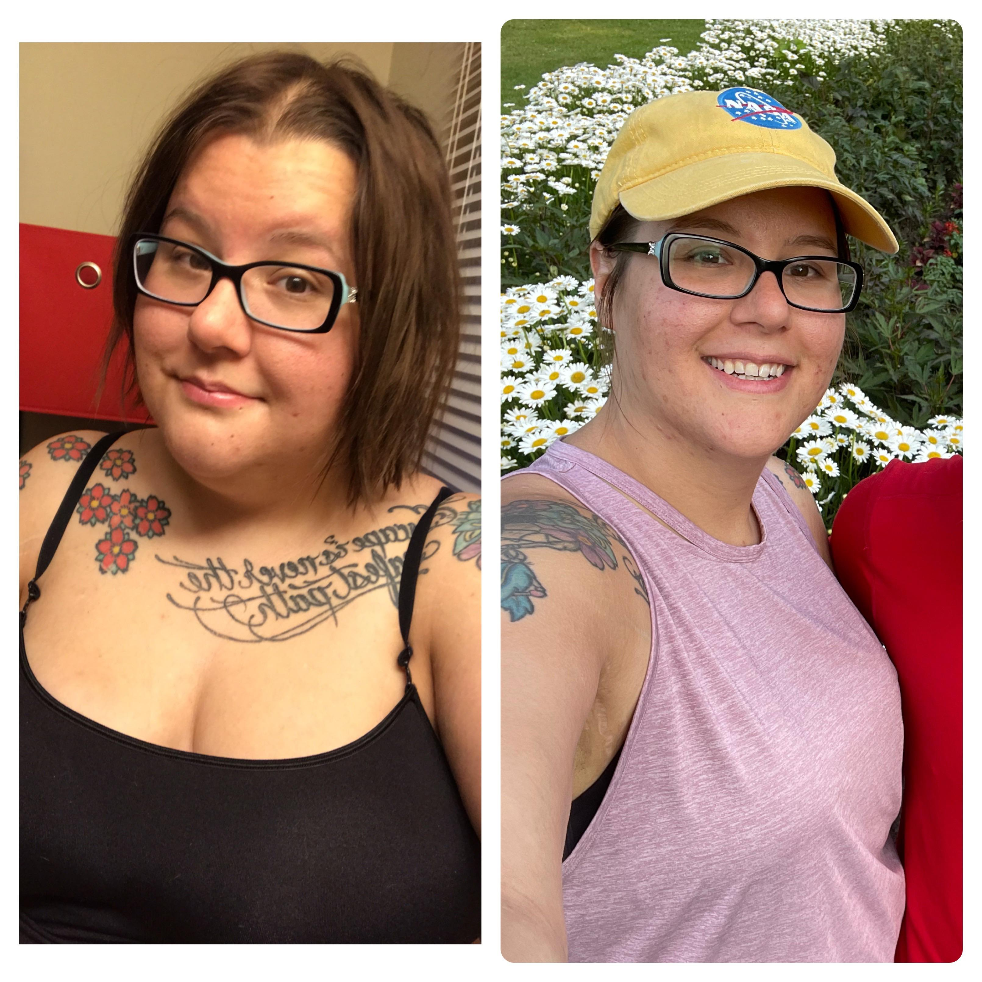 5 foot 11 Female 93 lbs Weight Loss Before and After 290 lbs to 197 lbs