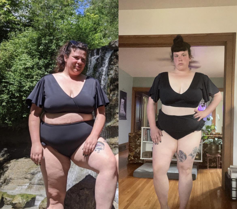 5 foot 5 Female Progress Pics of 50 lbs Fat Loss 272 lbs to 222 lbs