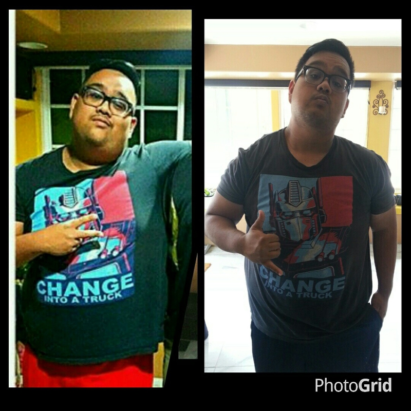 5 feet 9 Male Before and After 45 lbs Weight Loss 320 lbs to 275 lbs