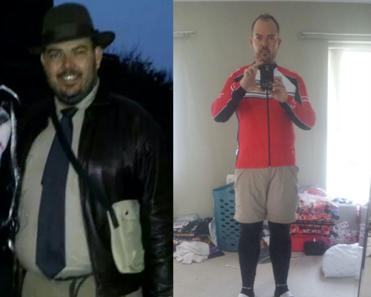 6 foot 3 Male 56 lbs Fat Loss Before and After 306 lbs to 250 lbs