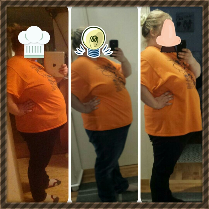Progress Pics of 17 lbs Weight Loss 5'3 Female 330 lbs to 313 lbs
